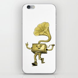 gramaphone iPhone Skin