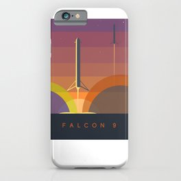 Falcon 9 Launch minimalist  iPhone Case