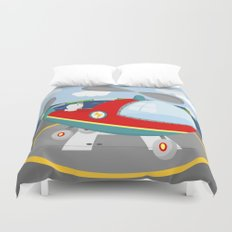 HELICOPTER (AERIAL VEHICLES) Duvet Cover