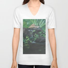 Fountain at the Zoo AC151223b-13 Unisex V-Neck