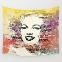 monroe Wall Tapestries featuring MONROE by Smart Friend