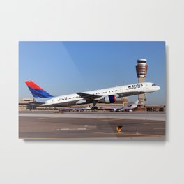 Delta Airlines 757-200 takeoff photo Metal Print