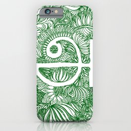A - Tamil - Green iPhone Case