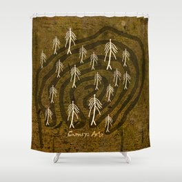 Ethnic 4 Canary Islands / Crowd in the Maze Shower Curtain
