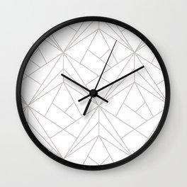 Minimal White & Light Gray Geometric Wall Clock
