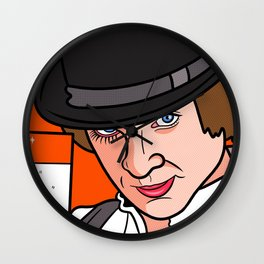Malcolm McDowell Clockwork Wall Clock