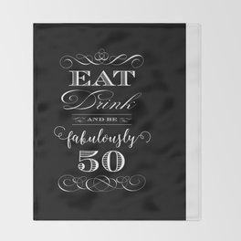 Fabulously Fifty Birthday Throw Blanket