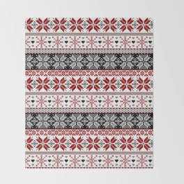 Winter Fair Isle Pattern Throw Blanket