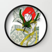 tina crespo Wall Clocks featuring Tina&Ape by eva vasari