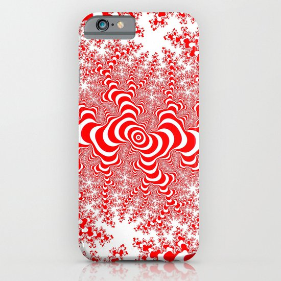 red and white fractal iPhone & iPod Case