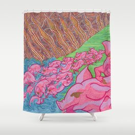 The Miracle of the Deviled Ham (#2 of 3) Shower Curtain