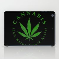 cannabis iPad Cases featuring Cannabis by PsychoBudgie