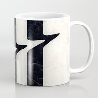 glitch Mugs featuring Glitch by Chad De Gris