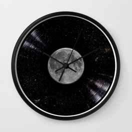 Awesome Moon and Stars Vinyl Wall Clock