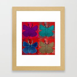 Stagerfly Collage Framed Art Print