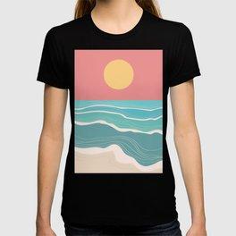 Crashing wave on sunny bay T-shirt