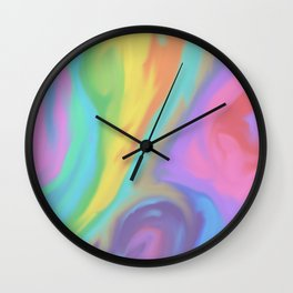 Rainbow Marble Wall Clock