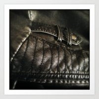 leather Art Prints featuring Leather by Adam Grey