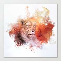 Expressions Lioness Canvas Print