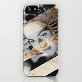 Leonardo Da Vinci's Head of Leda & Ingrid Bergman iPhone Case