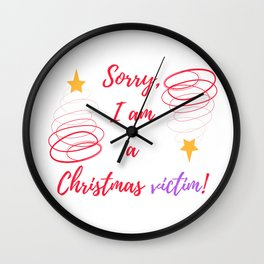 A Christmas vict Wall Clock