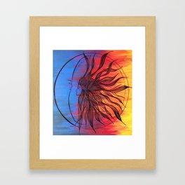 Sun and Moon Love Framed Art Print