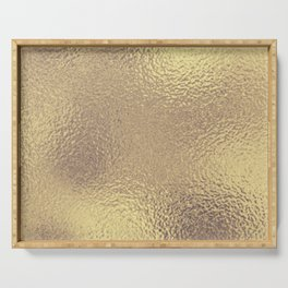 Simply Metallic in Antique Gold Serving Tray