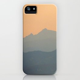 Sky of mountains iPhone Case