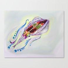 Caribbean Reef Squid Canvas Print
