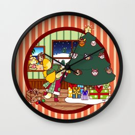 Isabelle's Christmas Tree Wall Clock