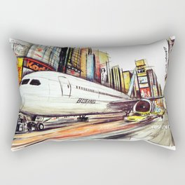 Flight in Times Square Rectangular Pillow