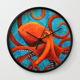 Holding On - Octopus Wall Clock