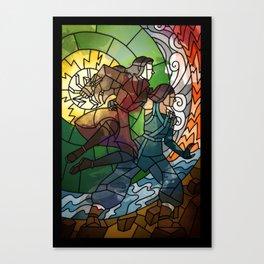 Korrasami - Fighting Duo Canvas Print