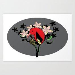 Hawaiian I'iwi Art Print
