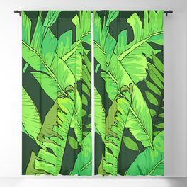 Green Jungle Tropical Leaves Pattern Blackout Curtain