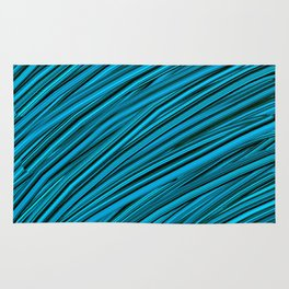 Blades of Grass Blue and Green Rug