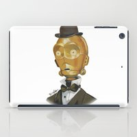 c3po iPad Cases featuring Sir C3PO by theMAINsketch