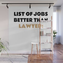 Funny Lawyer Saying Advocate Gift Idea Wall Mural