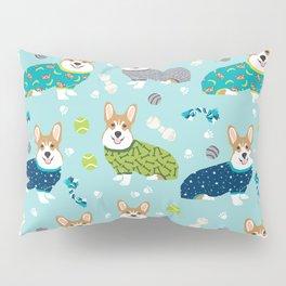 Corgi pajamas welsh corgi in pjs pattern print cute dog gifts custom dog portrait Pillow Sham
