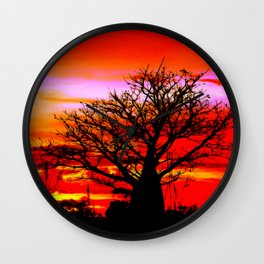 Fire n Boab Wall Clock