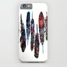 Boho Autumn Watercolor Feathers iPhone 6 Slim Case