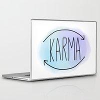 karma Laptop & iPad Skins featuring Karma by Vwyz