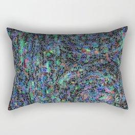 Aborigen Blue Rectangular Pillow