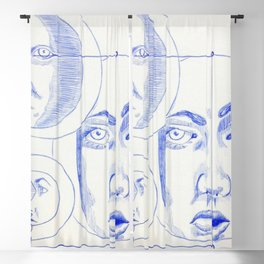 Art Watercolor, The Varied Perspectives of Self Blackout Curtain