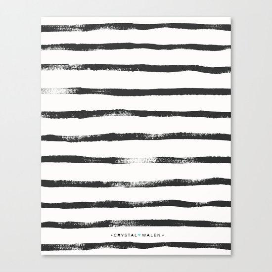 Thin Brush stripe Canvas Print