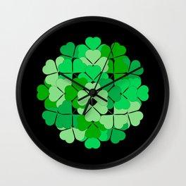 Lucky shamrocks Wall Clock