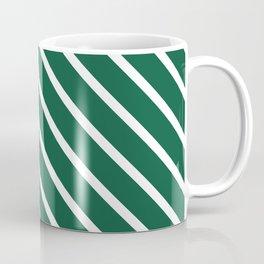 Teal The World (Green) Diagonal Stripes Coffee Mug