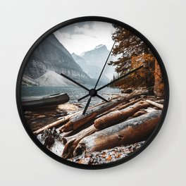 Moraine Lake at banff Wall Clock