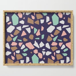 Colorful Modern Terrazzo Vector Pattern Serving Tray