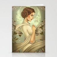princess leia Stationery Cards featuring Princess Leia by trevacristina